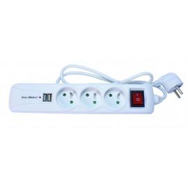Blocs multiprise avec interrupteur et prises USB