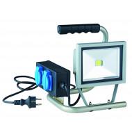 Projecteur portatif à led 20W avec 2 prises 16A étanches