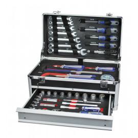 Valise en alu 1 tiroir avec 45pcs d'outils au CHROME VANADIUM