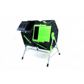 Double composteur rotatif 140L rapide en PVC