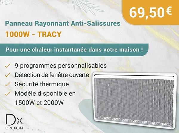 Panneau Rayonnant Anti-Salissures – 2000W