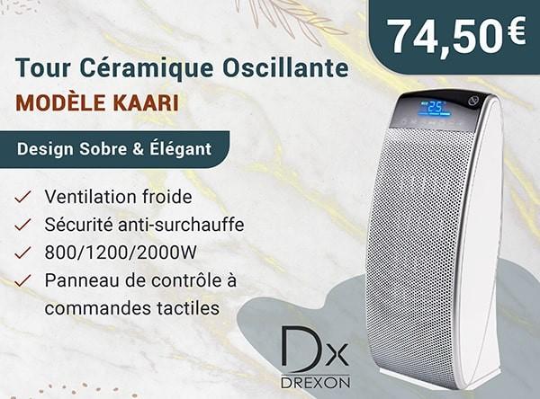 Tour Céramique Oscillante Modèle Kaari