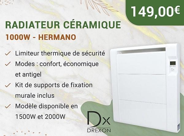 Radiateur Céramique – 1500w