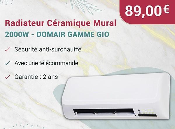 Radiateur Céramique Mural - 2000W