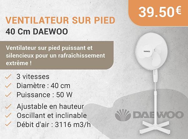 Ventilateur Sur Pied 40 Cm DAEWOO