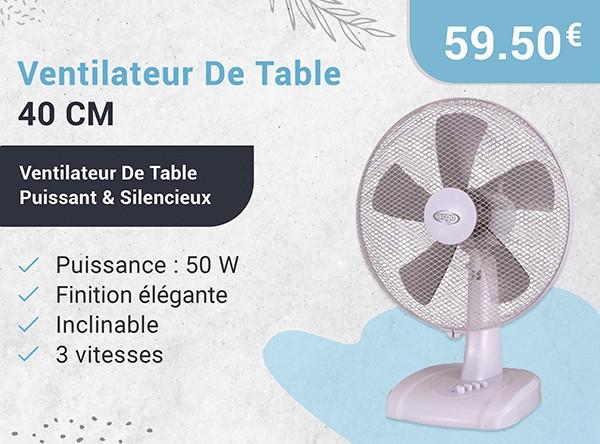 Ventilateur De Table 40 Cm