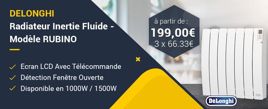 Delonghi - Radiateur Inertie Fluide - Modèle RUBINO